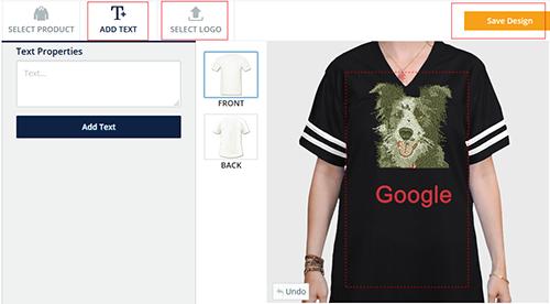 T-Shirt Design Software Step 2